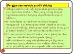 penggunaan metode anodik striping