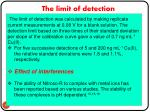 the limit of detection