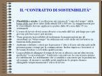 il contratto di sostenibilit