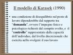 il modello di karasek 1990