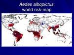 aedes albopictus world risk map