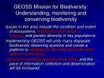 geoss mission for biodiversity understanding monitoring and conserving biodiversity