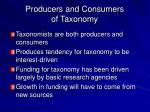 producers and consumers of taxonomy