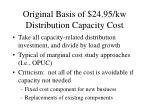 original basis of 24 95 kw distribution capacity cost