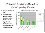 potential revisions based on new capacity values