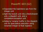 powerpc 603 g2