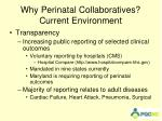 why perinatal collaboratives current environment