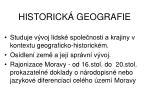 historick geografie