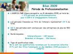 bilan 2009 p riode de professionnalisation