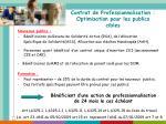 contrat de professionnalisation optimisation pour les publics cibles
