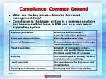 compliance common ground