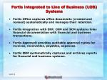 fortis integrated to line of business lob systems