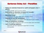 sarbanes oxley act penalties