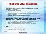 the fortis value proposition