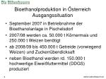 bioethanolproduktion in sterreich ausgangssituation