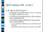 qos routing with cont2