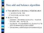 tree add and balance algorithm
