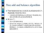 tree add and balance algorithm1