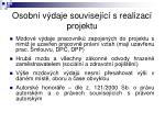 osobn v daje souvisej c s realizac projektu