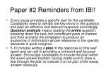 paper 2 reminders from ib