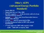 ohio s aeps advanced energy portfolio standard