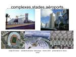 complexes stades a roports