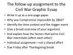 the follow up assignment to the civil war graphic essay