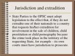 jurisdiction and extradition