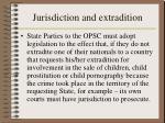jurisdiction and extradition