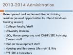 2013 2014 administration