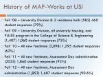 history of map works at usi
