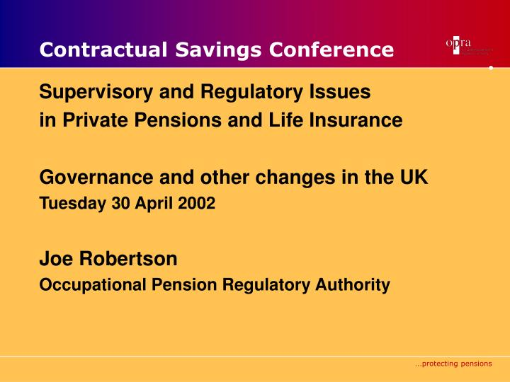contractual savings conference n.