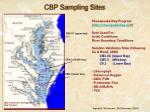 cbp sampling sites
