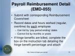 payroll reimbursement detail emd 055