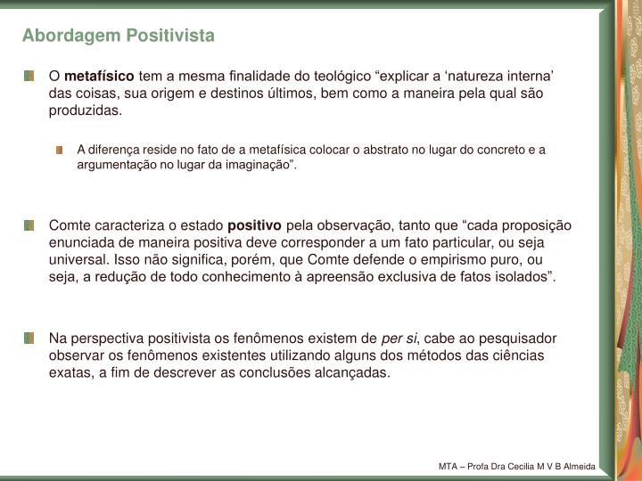 Abordagem Positivista