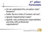 1 st pillar formulate