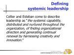 defining systemic leadership