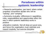 paradoxes within systemic leadership