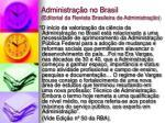 administra o no brasil editorial da revista brasileira de administra o