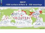 dbcp 1500 surface drifters 500 moorings