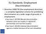 eu standards employment discrimination