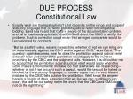 due process constitutional law