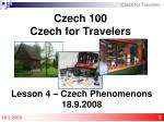 czech 100 czech for travelers