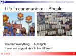 life in communism people