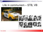 life in communism stb vb