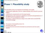 phase 1 plausibility study
