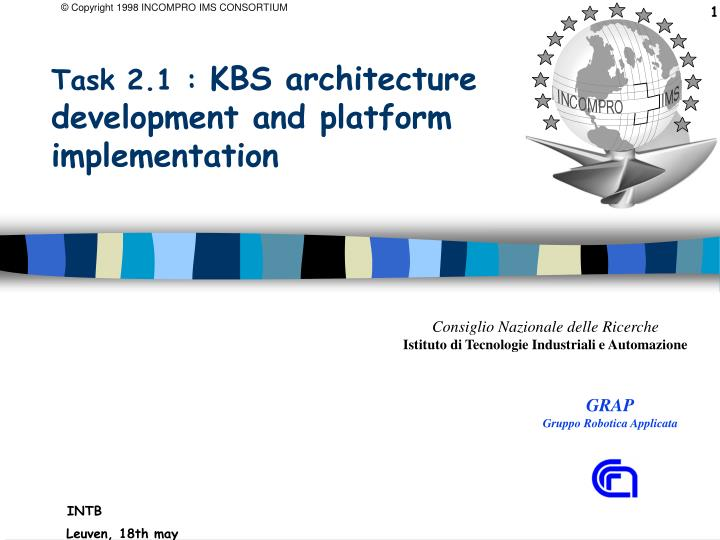 task 2 1 kbs architecture development and platform implementation n.