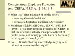 conscientious employee protection act cepa n j s a 34 19 31