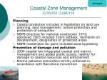 coastal zone management c 76 161 c 92 114