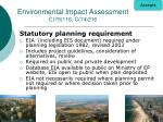 environmental impact assessment c 79 116 c 74 216